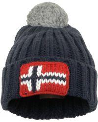 Napapijri - Semiury Marine Wool Beanie Hat - Lyst