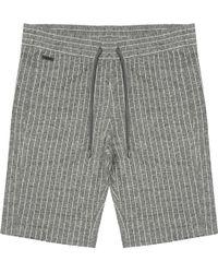 CALVIN KLEIN 205W39NYC - Grey Heather Kalor Pinstripe Jacquard Shorts - Lyst