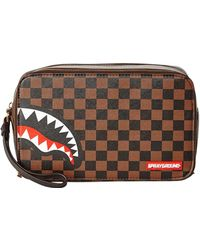 Sprayground Sharks In Paris Toiletry Bag - Brown
