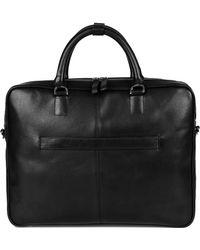 Sandqvist Black Dag Leather Briefcase Sqa762