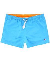 Champion Contrast Seam Detail Swim Shorts - Blue