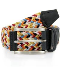 Andersons Anderson Belts Leather Textile Multicolor M6