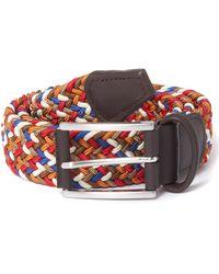 Andersons Elastic Woven Belt - Gray