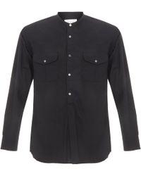 Still By Hand - Chest Pocket Navy Shirt - Lyst