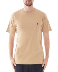 Gramicci Short Sleeve One Point T-shirt - Natural