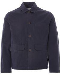 Universal Works Warmus Jacket Twill - Blue