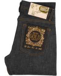 Naked & Famous Weird Guy Real Gold Selvedge - Metallic