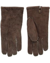 Dents - Mahogany Brown Lambskin Leather Gloves - Lyst