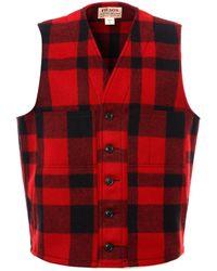 Filson Mackinaw Wool Vest - Red