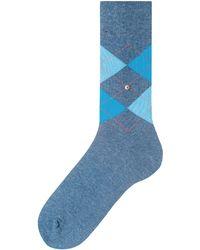 Burlington - Blue Marl King Argyle Socks - Lyst