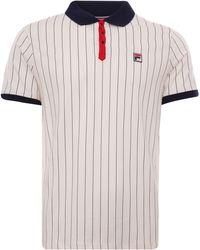 Fila Bb1 Vintage Striped Polo - White
