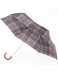 Barbour - Tartan Mini Umbrella - Black - Lyst