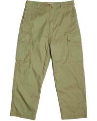 Nigel Cabourn Dutch Pant Cotton Herringbone Twill - Green