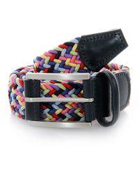 Andersons - Anderson Belts Woven Rainbow Belt - Lyst