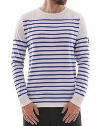 Armor Lux Striped Jersey - White/blue