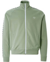 Fred Perry Taped Track Jacket - Green