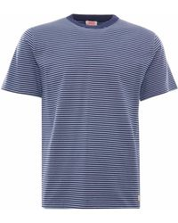 Armor Lux Organic Cotton Striped Heritage T-shirt - Blue