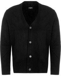 Calvin Klein - Black Sawal Wool Cashmere Shawl Cardigan - Lyst
