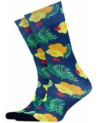 Burlington Burlington Hawaii Print Fashion Socks - Blue