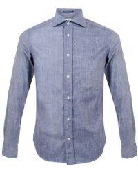 B.D. Baggies - Dexter Polka Dot Shirt - Blue - Lyst