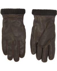 Hestra - Dark Brown Primaloft Deerskin Gloves - Lyst