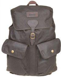 Barbour - Olive Beaufort Backpack - Lyst