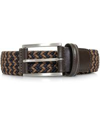 Andersons - Anderson Braided Woven Brown Blue Belt Af3689 Bm - Lyst