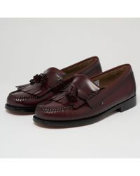 G.H.BASS Layton Ii Moc Kiltie Tassel Loafers - Wine - Multicolor