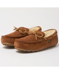 Barbour - Camel Halom Slippers - Lyst