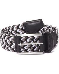 Andersons - Anderson Black & Grey Woven Belt Af3689-021 - Lyst