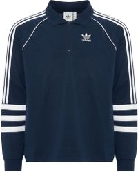 adidas Originals - Blue Authentic Rugby Jersey - Lyst
