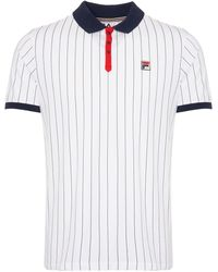 Fila Fila White Bb1 Polo Shirt Lm161rm5
