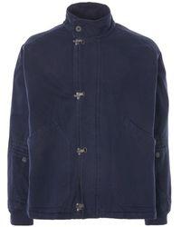 Nigel Cabourn Short Arctic Clip Jacket - Blue