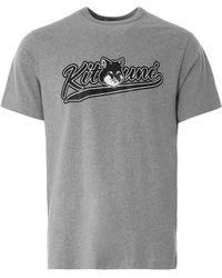 Maison Kitsuné Varsity Fox Classic T-shirt - Grey