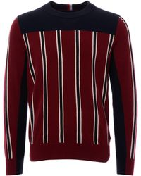 Tommy Hilfiger Regimental Stripe Crew Neck - Red