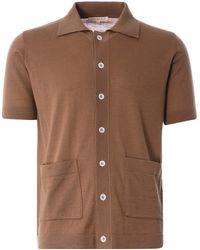 Far Afield Velzy Short Sleeve Cardigan - Brown