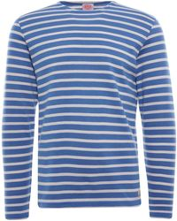 Armor Lux Organic Cotton L/s Mariniere Heritage T-shirt - Blue