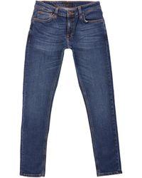 Nudie Jeans Skinny Lin Denim Jeans - Blue
