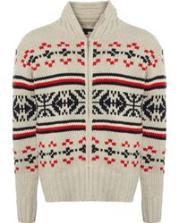 Tommy Hilfiger Fair Isle Pattern Cardigan7843-002 - White