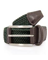 Andersons Elastic Woven Belt - Green