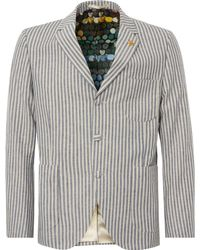 Gibson London Blue And White Stripe Jacket