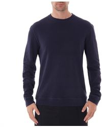 Naked & Famous Naked And Famous Slim Crew Neck - Vintage Navy - Blue