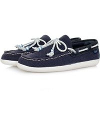 G.H. Bass & Co. - Bass Wilton Driver Weaver Knitted Cotton Navy Canvas Shoe - Lyst