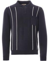Far Afield Alfaro Long Sleeve Polo - Blue