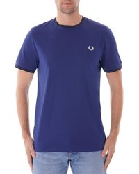 Fred Perry Twin Tip Tee - Medieval Blue M1588-720