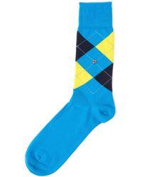 Burlington - King Socks - Aqua - Lyst