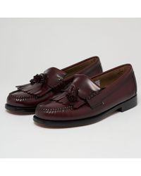 G.H.BASS Layton Kiltie Moc Ii Tassel Loafers - Wine Ba110250nn Col - Multicolour