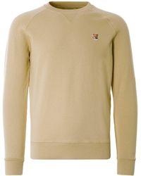 Maison Kitsuné Fox Head Patch Classic Sweatshirt - Natural