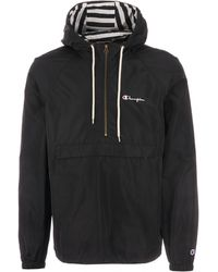 Champion Half Zip Hooded Jacket - Black
