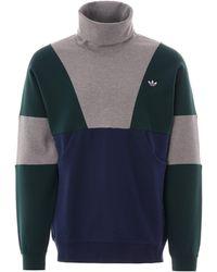adidas Originals Samstag Polo Neck Sweater - Blue